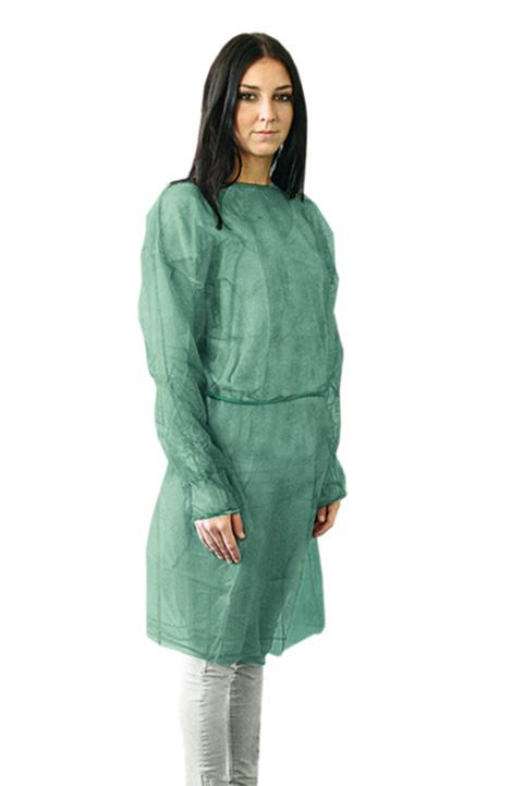Meditrade Schutzkittel grün aus PP 10 Stück 3685-10
